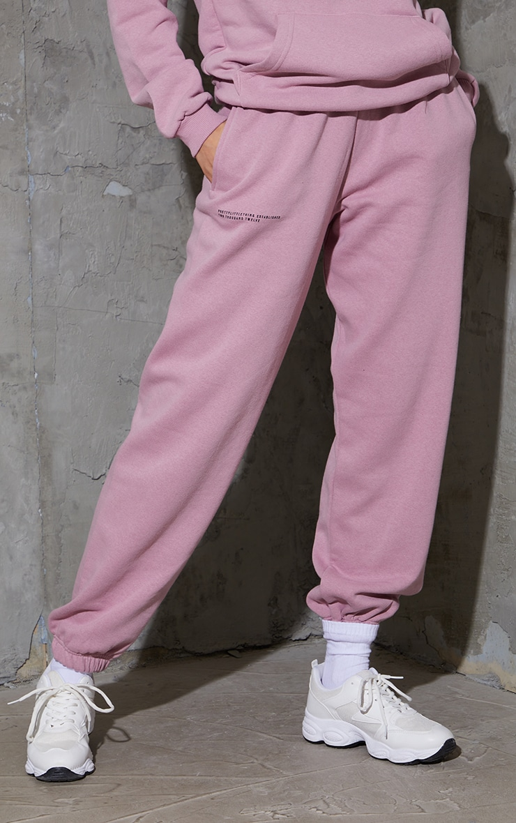PRETTYLITTLETHING Dusty Pink Est 2012 Joggers 2