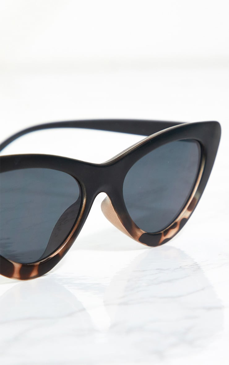 Black Animal Cat Eye Retro Sunglasses 4
