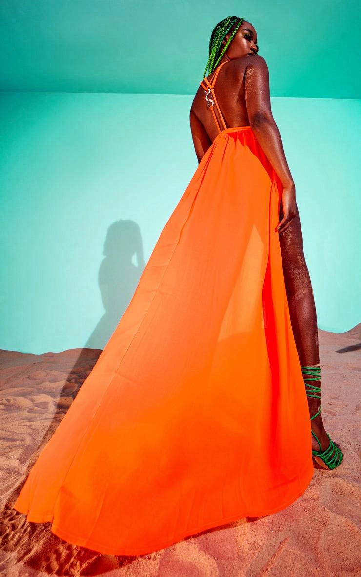 Orange Ring Detail Maxi Dress 1