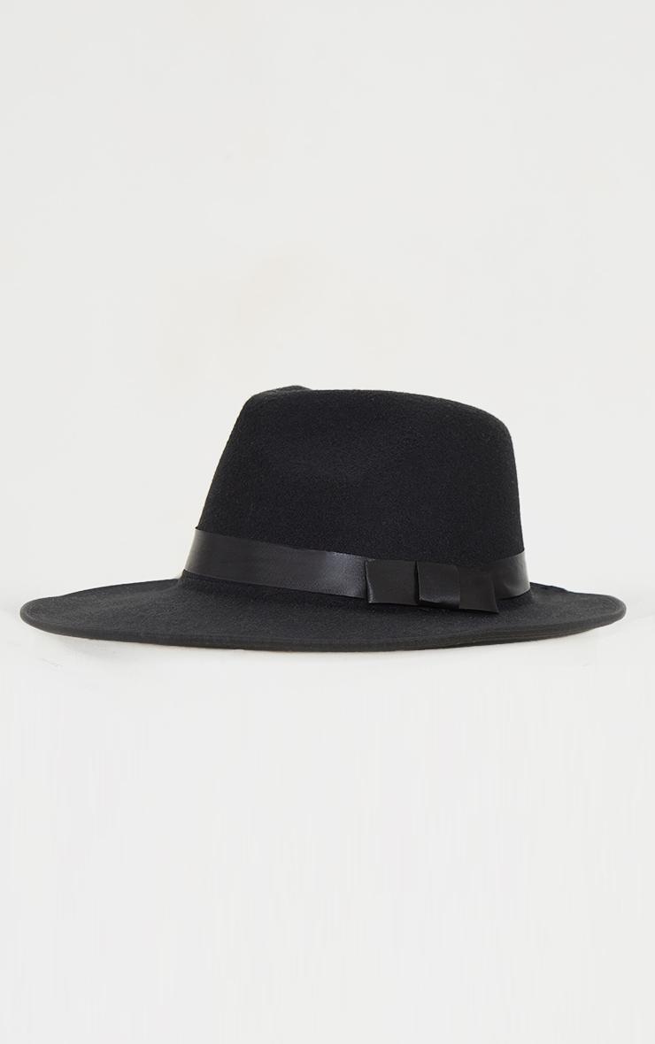 قبعة فيدورا بيزيك سوداء 2