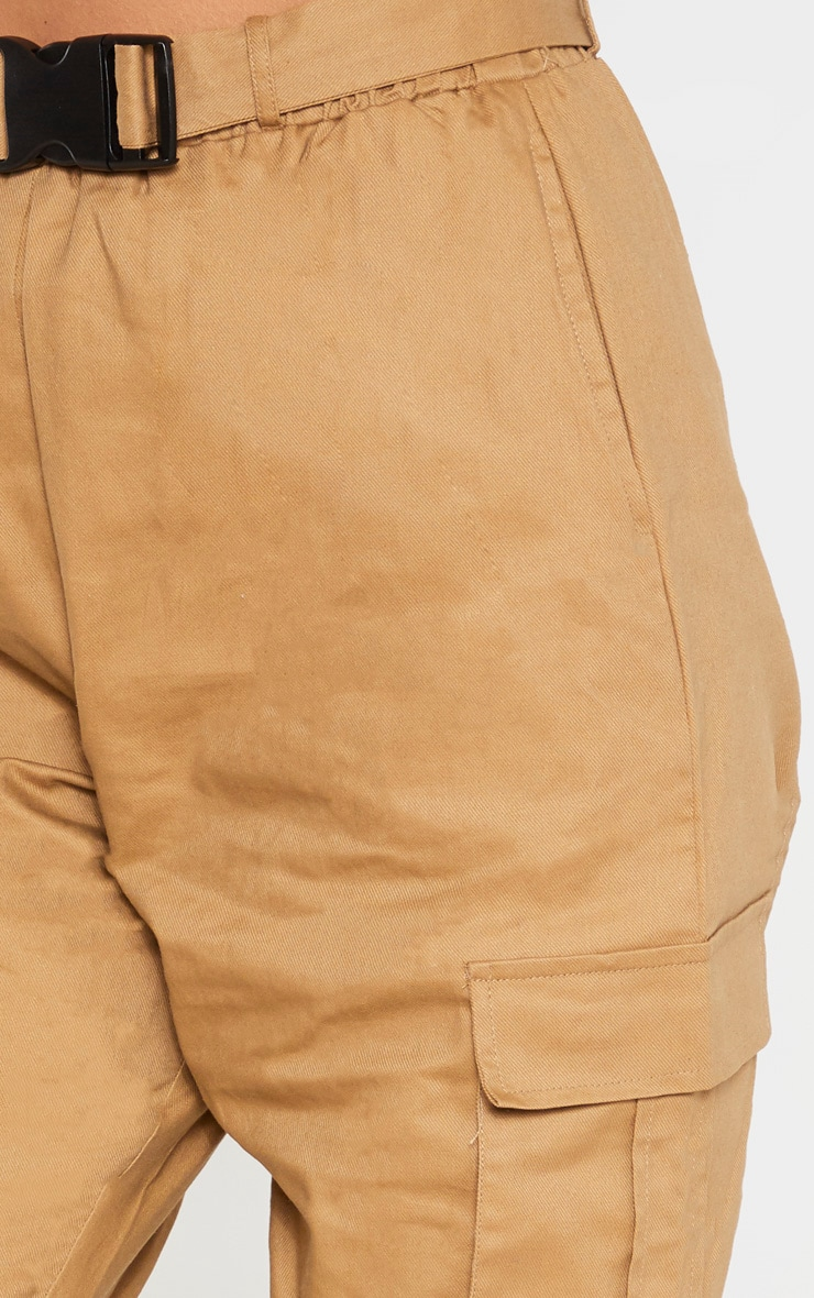 Taupe Utility Buckle Belt Joggers 5