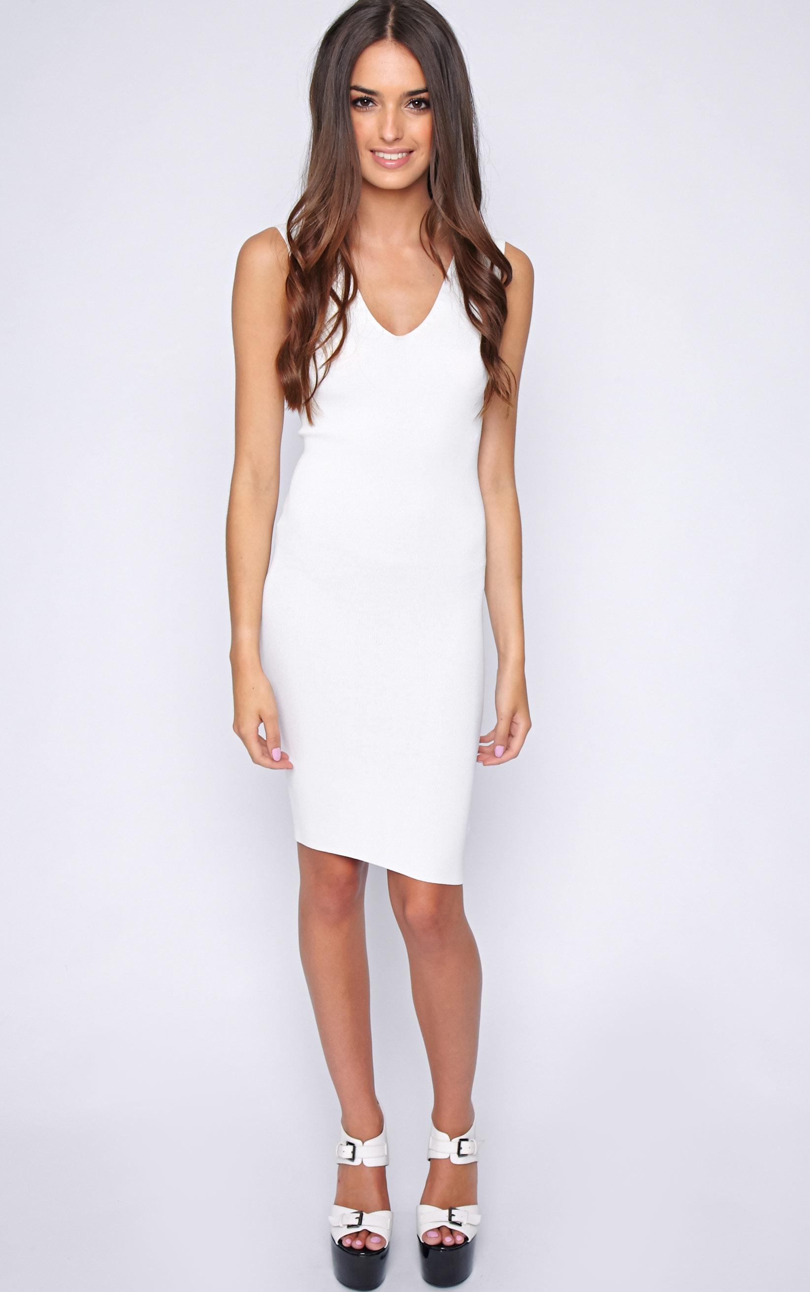 Becky White Bodycon Stretch Dress 3