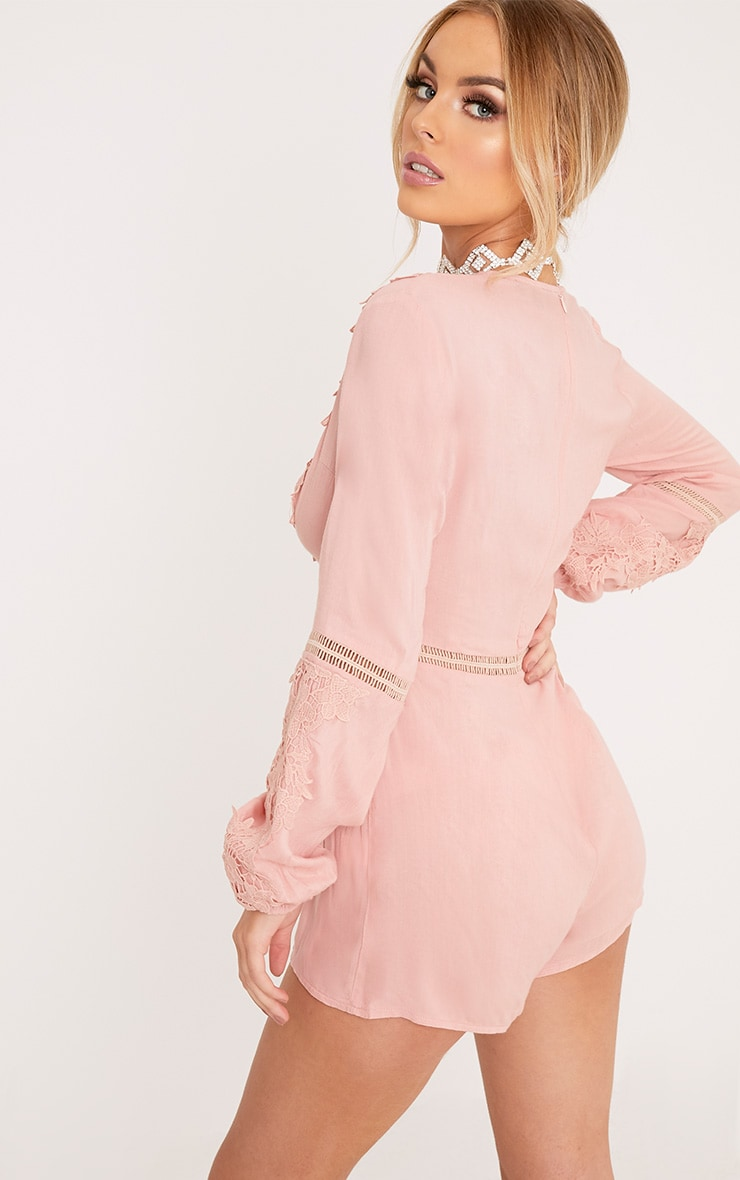 Lauren Pink Cheesecloth Playsuit 2