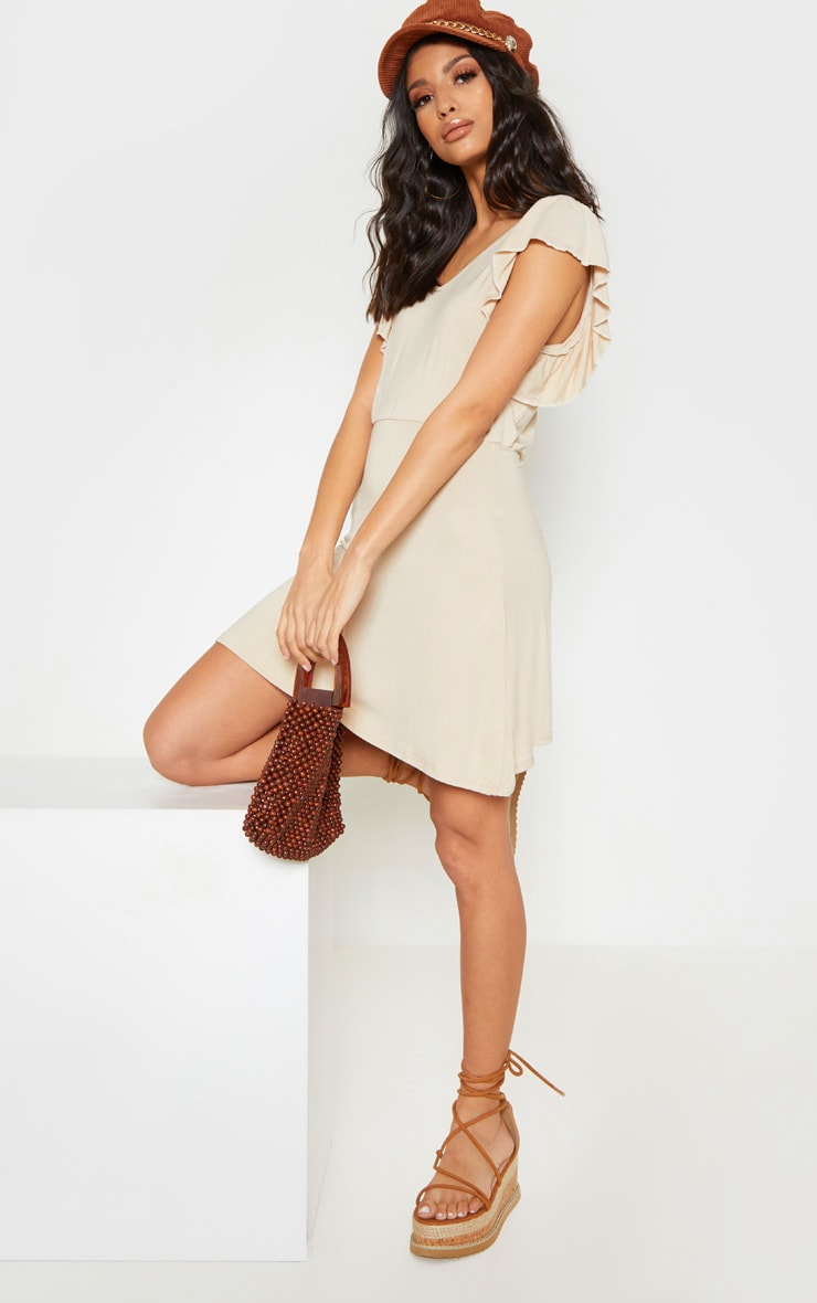 Stone Frill Sleeve Shift Dress 4