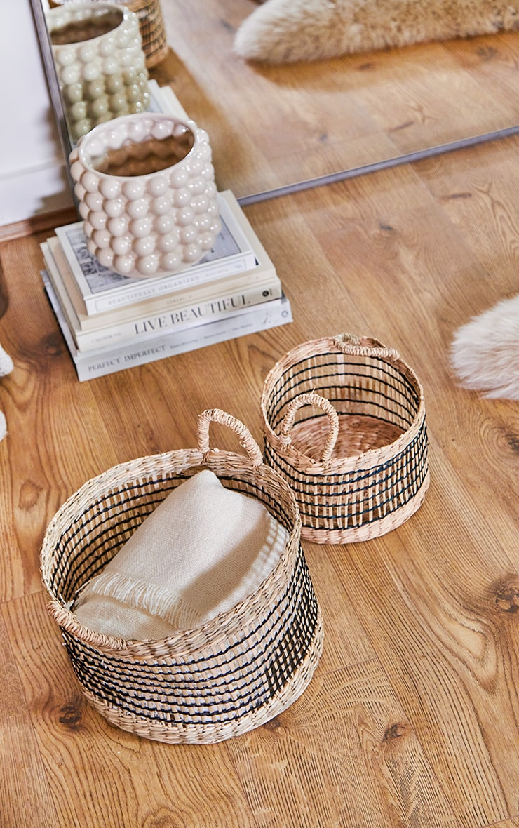 Seagrass Open Weave Baskets 2 Pack 1