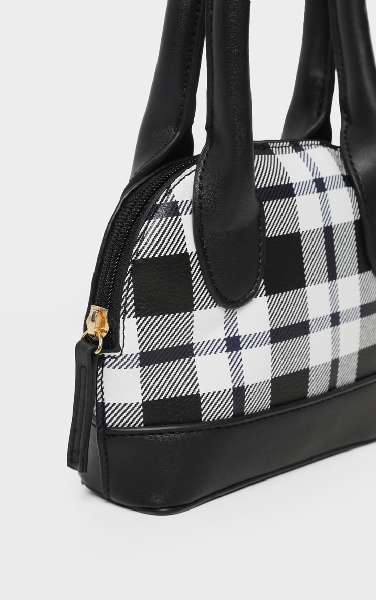 Monochrome Check Rounded Grab Bag 3