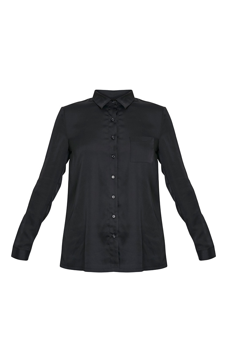 Dee Black Satin Shirt 3