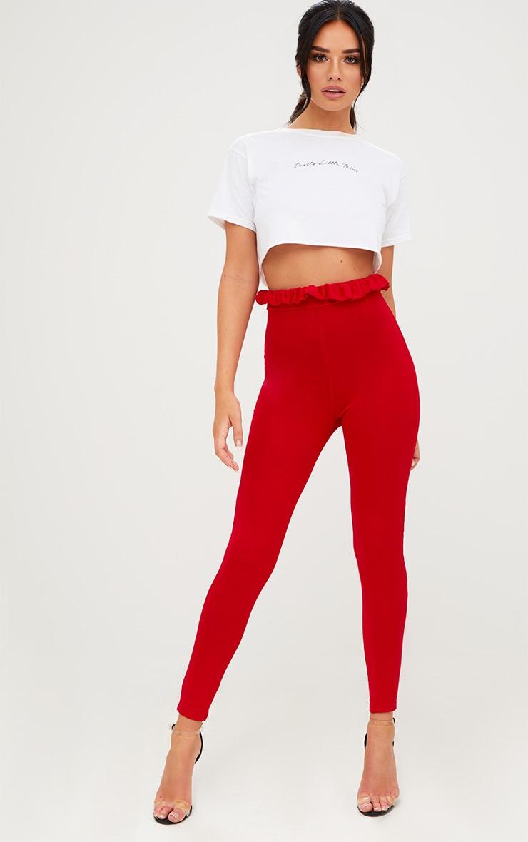 Red Paperbag Leggings 1
