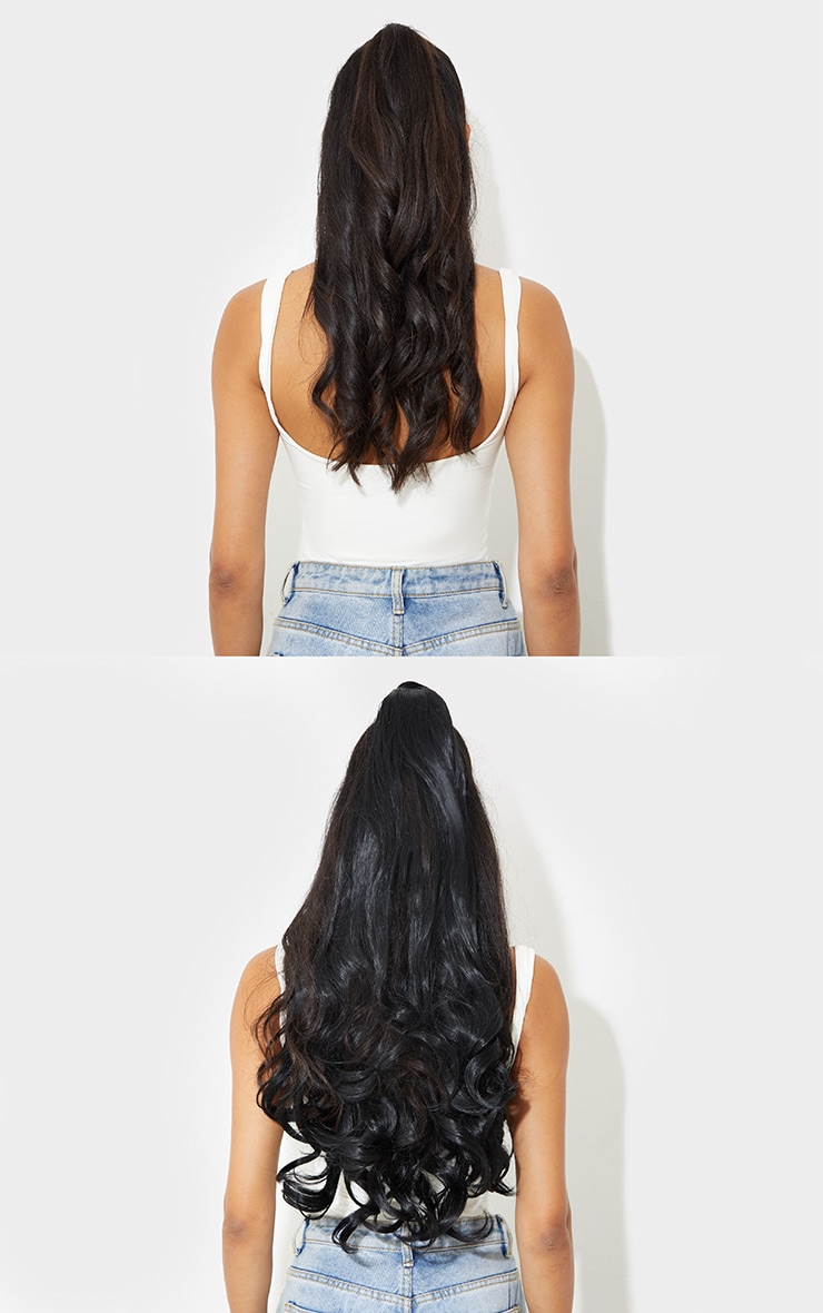 Lullabellz Ultimate Half Up Half Down 22 Curly Extension and Pony Set Natural Black 4