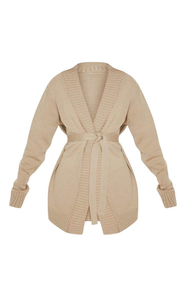 Stone  Belted Knitted Cardigan 3
