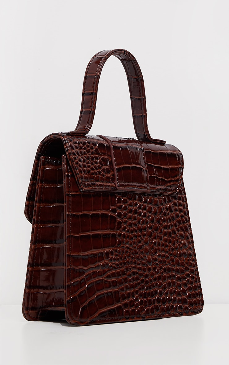 Choc Patent Croc Front Buckle Mini Bag 3