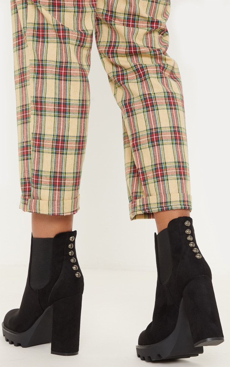Black Cleated Platform Chelsea Boot